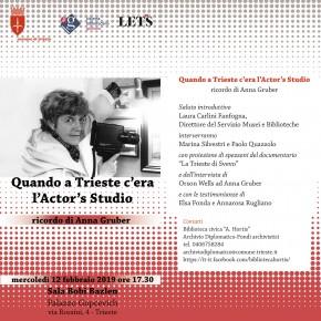 Quando a Trieste c'era l'Actor's Studio